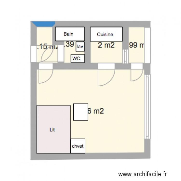 plan appartement chemin de rionza 3 plan 5 pi ces 21 m2 dessin par attis186. Black Bedroom Furniture Sets. Home Design Ideas
