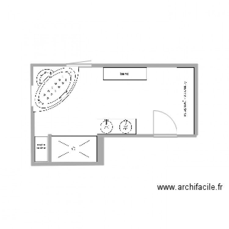 sdb plan dessin par pat69280. Black Bedroom Furniture Sets. Home Design Ideas