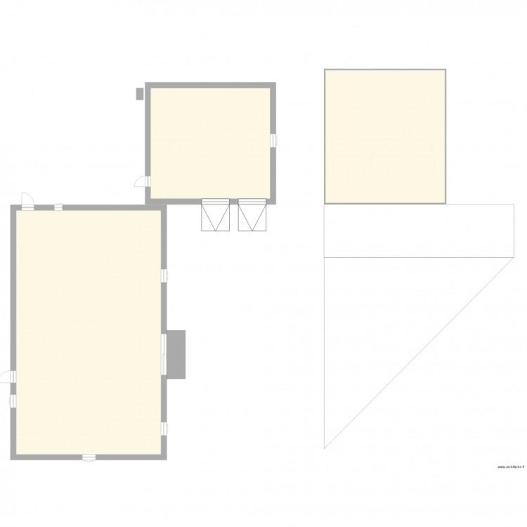 terrassement vincent b plan 3 pi ces 365 m2 dessin par sp si. Black Bedroom Furniture Sets. Home Design Ideas