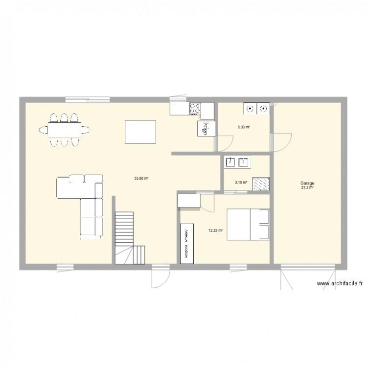 Maison 2eme jet plan 5 pi ces 95 m2 dessin par naiko44 for 2eme hypotheque sur maison
