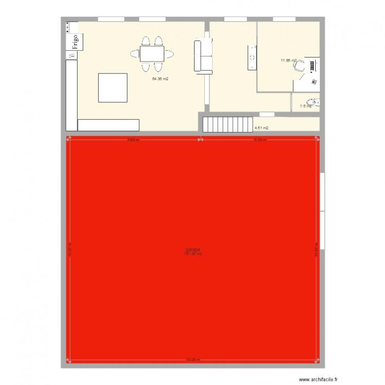 Maison rez de chauss e plan 5 pi ces 230 m2 dessin par Plan de maison 5 pieces