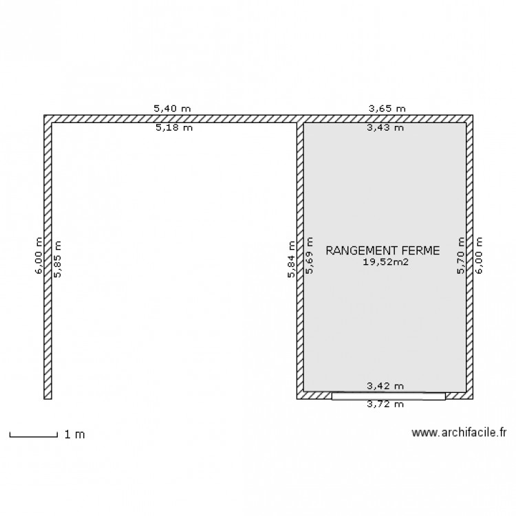 Abri de jardin 2 plan 1 pi ce 20 m2 dessin par mmromont - Abri jardin grande taille ...