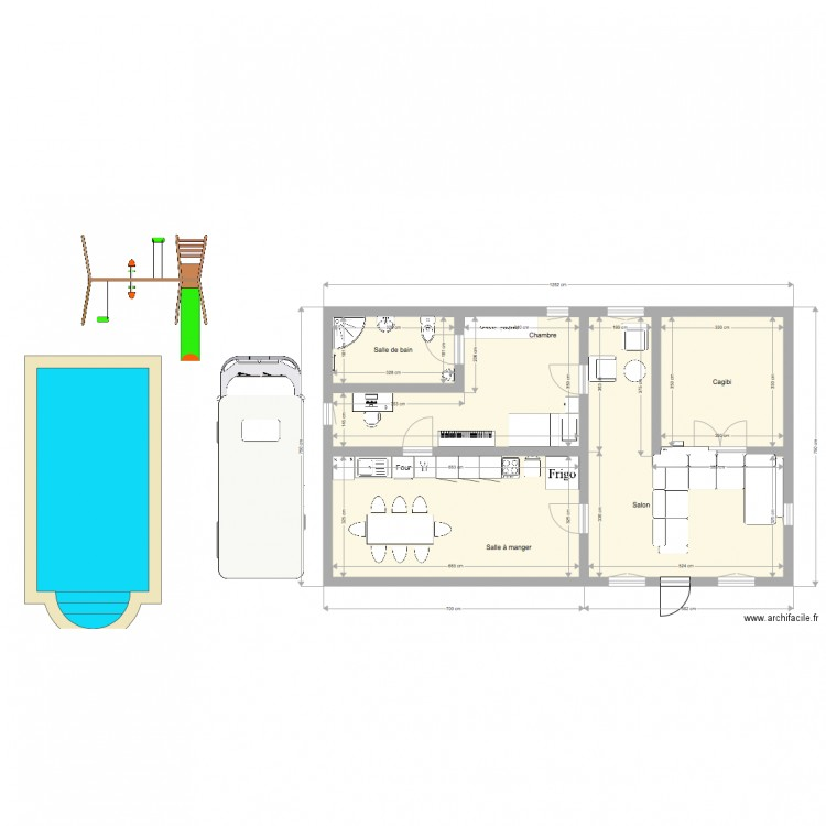 Maison de r ve plan 5 pi ces 78 m2 dessin par saitam773 Plan de maison 5 pieces