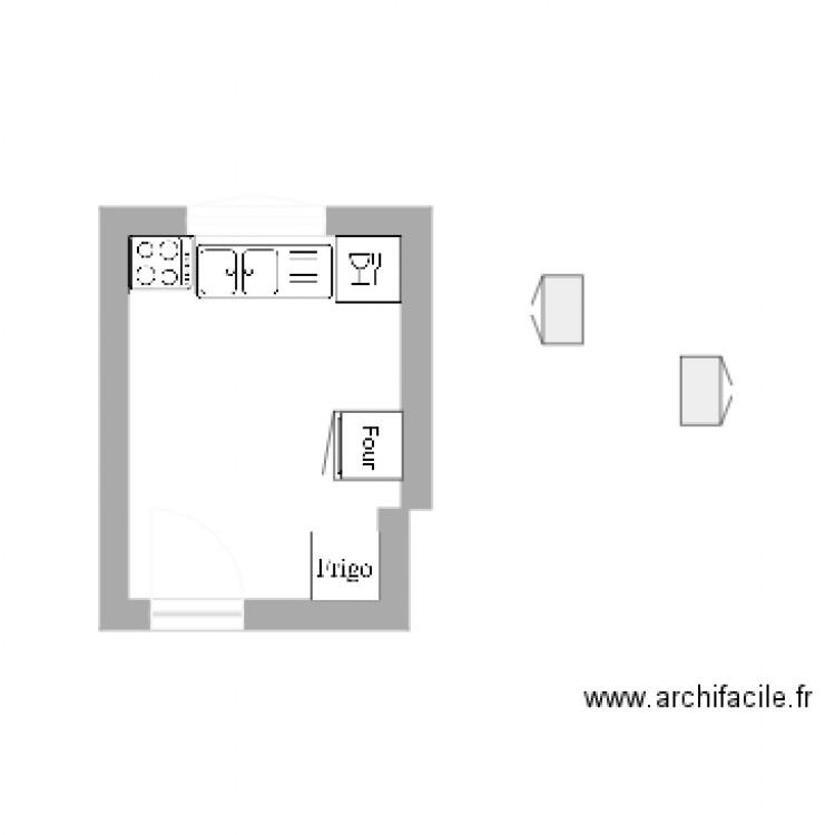 Projet cuisine plan dessin par milietkd for Projet cuisine en ligne