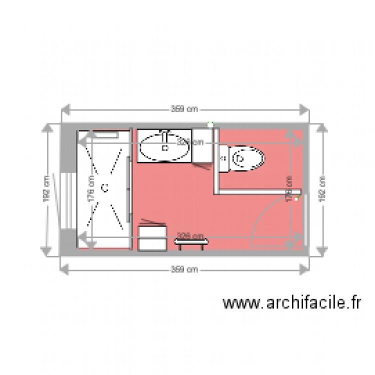 salle de bain plan 1 pi ce 6 m2 dessin par alainbone. Black Bedroom Furniture Sets. Home Design Ideas