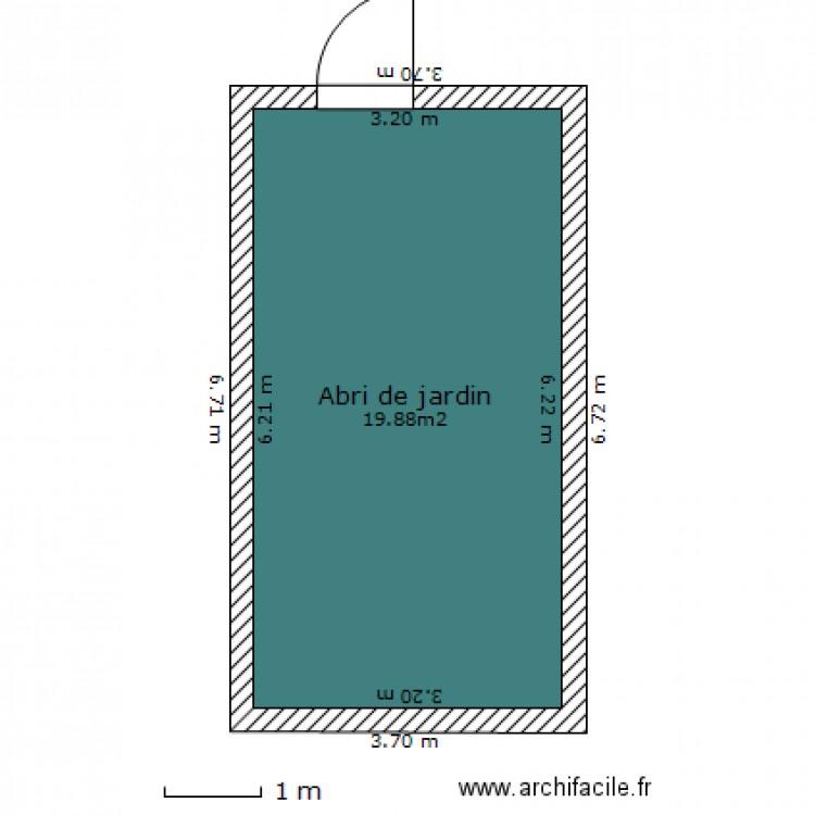 mon abri de jardin plan 1 pi ce 20 m2 dessin par int500001. Black Bedroom Furniture Sets. Home Design Ideas