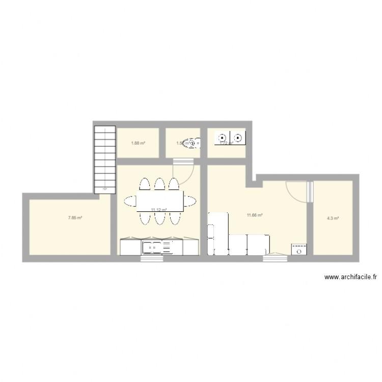 Maison plan 7 pi ces 40 m2 dessin par connectit for Modifier plan maison