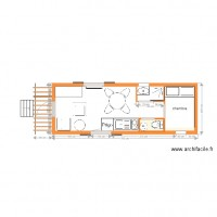 plan roulotte 7 m standard