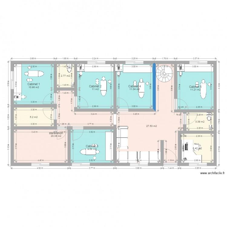 cabinet dentaire plan 11 pi ces 120 m2 dessin par carlos45380. Black Bedroom Furniture Sets. Home Design Ideas