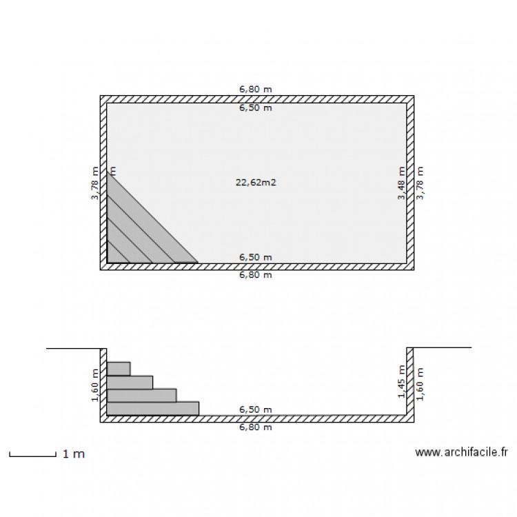 plan en coupe piscine plan 1 pi ce 23 m2 dessin par