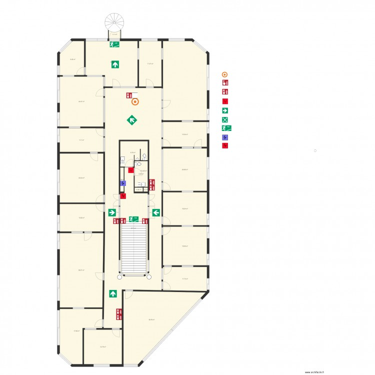 Vacances h liades etage 1 plan 24 pi ces 521 m2 dessin for 521 plan