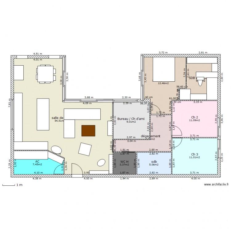 Plan maison 140 m2 cheap maison proposition plan de pices for Modele maison 140 m2