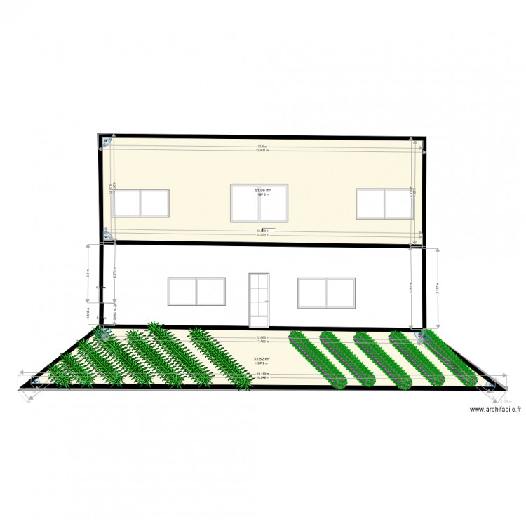 facade plan 4 pi ces 170 m2 dessin par khadim niang. Black Bedroom Furniture Sets. Home Design Ideas