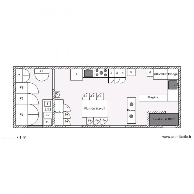 Etage cuisine restaurant brume plan 2 pi ces 44 m2 - Plan de cuisine professionnelle restaurant ...