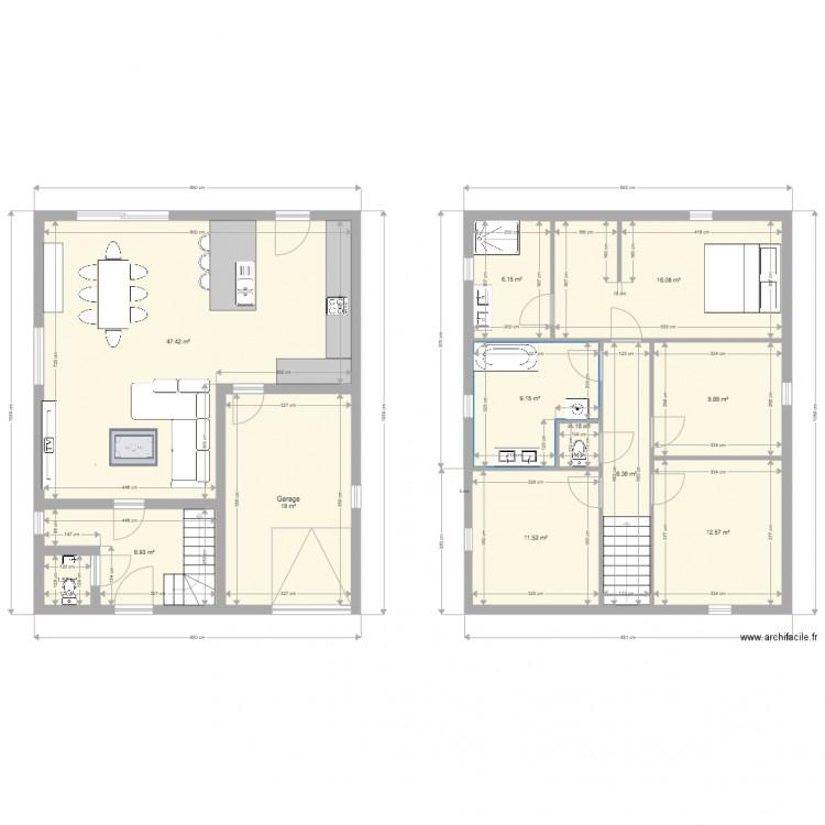 Rixensart plan 12 pi ces 153 m2 dessin par billniz for Central jardin rixensart