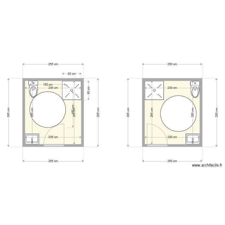 Incroyable wc pmr - Plan 2 pièces 12 m2 dessiné par apeival EG-87