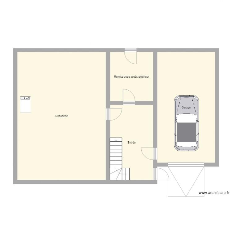 Maison guibart plan 4 pi ces 102 m2 dessin par m for Taille moyenne maison