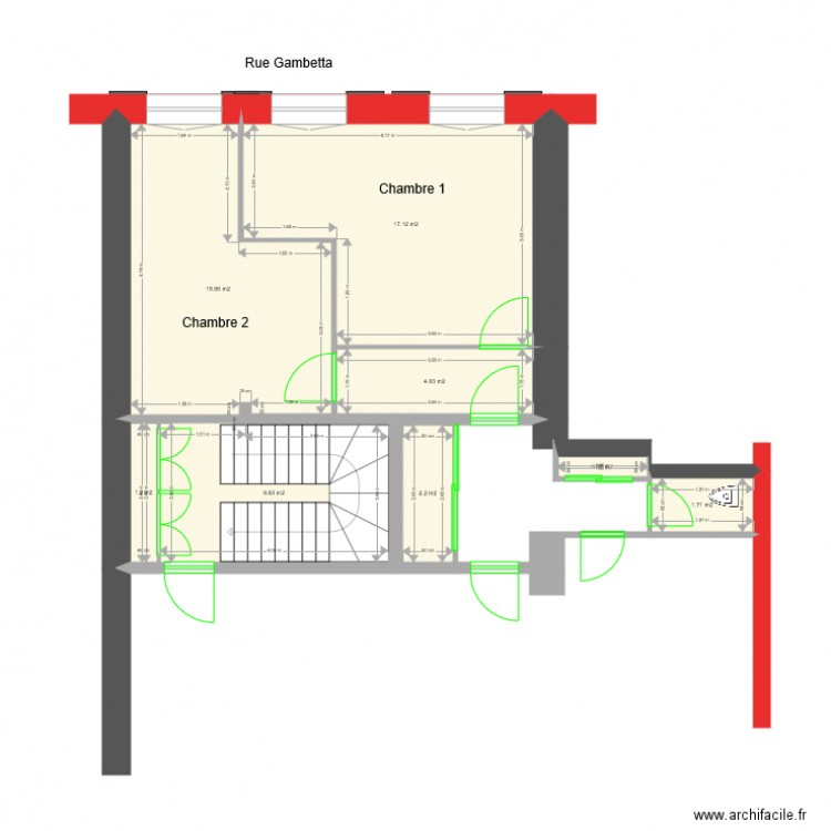 Epernay plan 8 pi ces 52 m2 dessin par jmgroud for Plan epernay