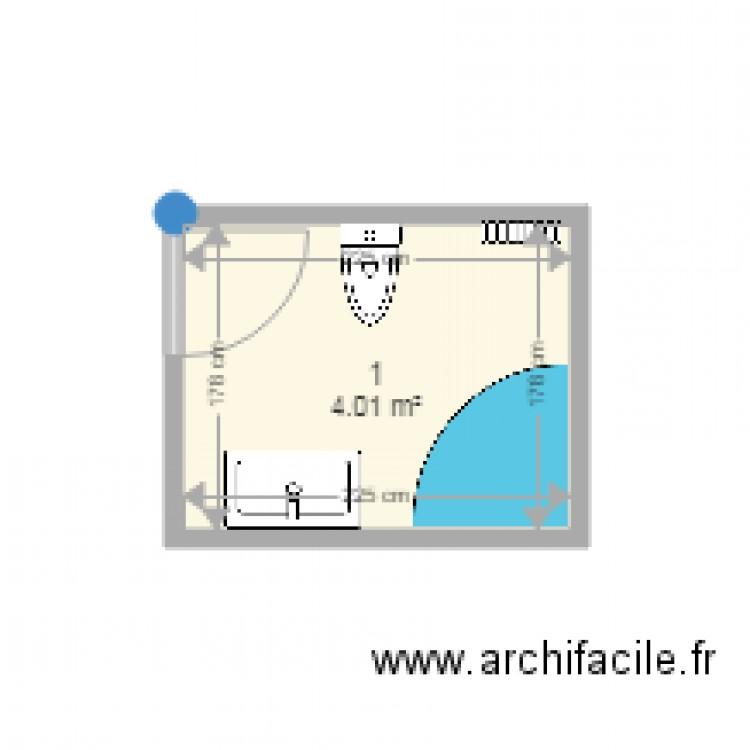Salle de bain initiale plan 1 pi ce 4 m2 dessin par for Salle de bain 4 m2