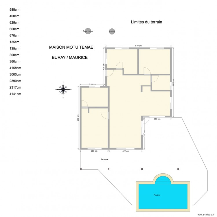 Plan De Masse Plan 6 Pi Ces 99 M2 Dessin Par Sanmau