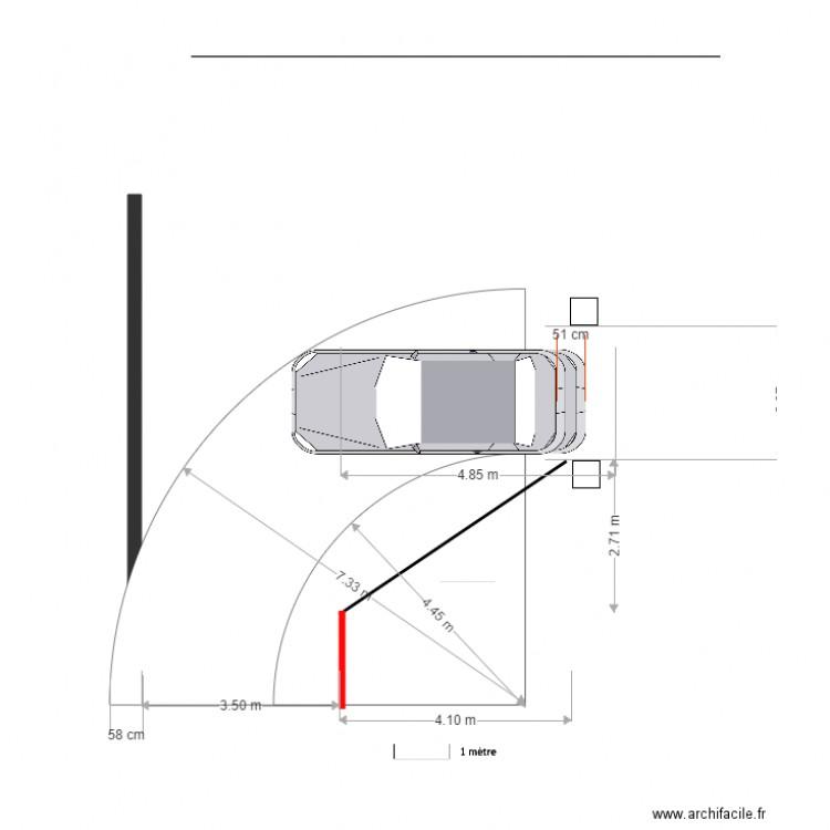 Parcours Auto Rayon De Braquage Autoturn 610 Cm Avec 50 Cm En Plus Plan Dessine Par Marc Gasnier