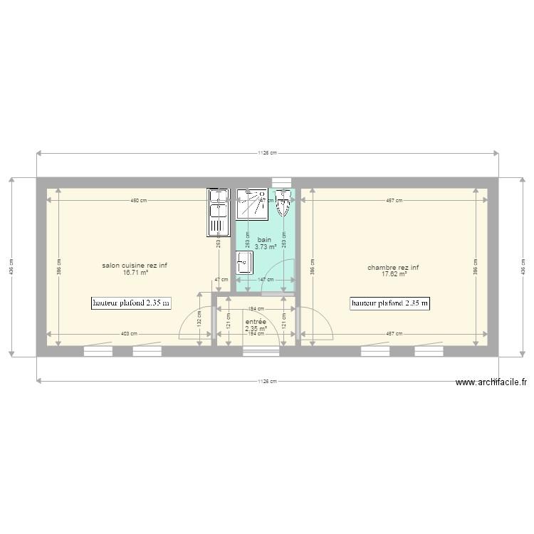Petite Maison Montricher Rez Inf Plan 4 Pièces 40 M2