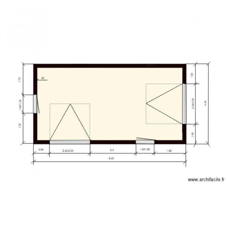 Hangar plan plan 1 pi ce 32 m2 dessin par jmauroux for Plan de hangar