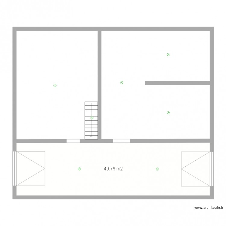 eclairage sous sol jeremy plan 1 pi ce 50 m2 dessin par. Black Bedroom Furniture Sets. Home Design Ideas