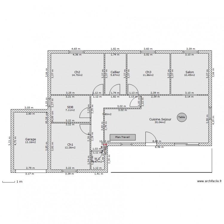plan maison 105m2