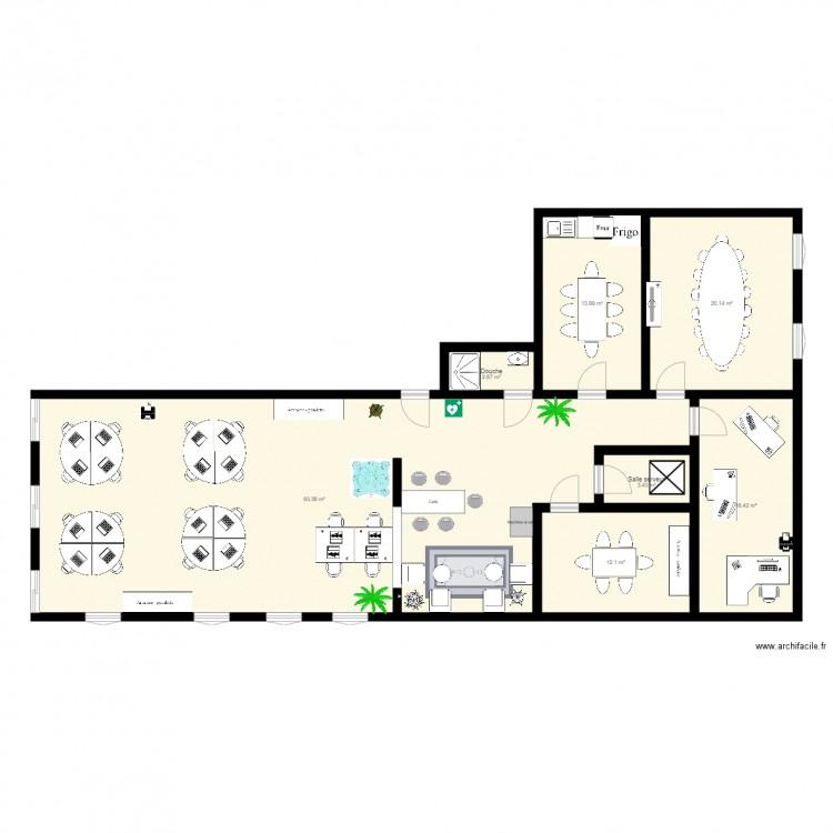 Logtimiz plan 7 pi ces 162 m2 dessin par ydominique for 162 plan