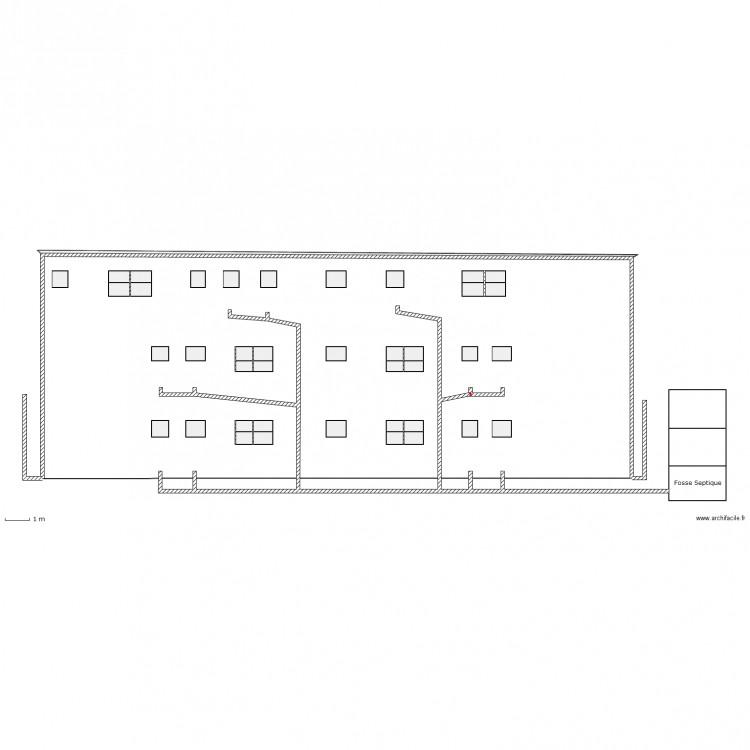 plan d 39 evacuation des eaux us es et de pluie plan 48 pi ces 239 m2 dessin par aljoalkr. Black Bedroom Furniture Sets. Home Design Ideas