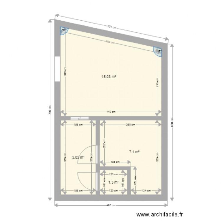Salle de bain plan 4 pi ces 28 m2 dessin par benjaminhellin for Salle de bain 4 m2