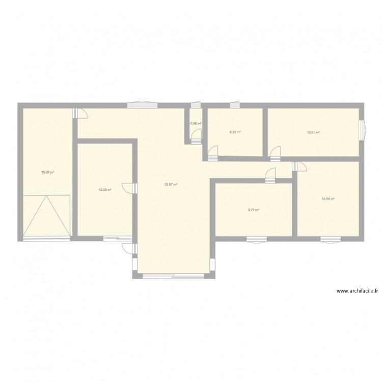 Maison t plan 8 pi ces 99 m2 dessin par kevinchloe for Taille moyenne maison