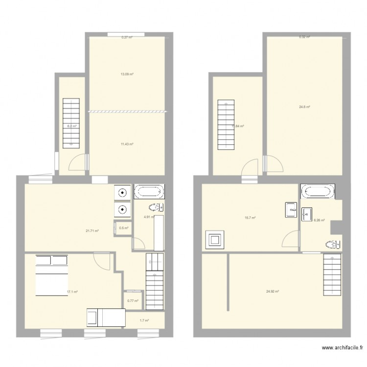 Potager2 plan 16 pi ces 162 m2 dessin par tintinmurphy for 162 plan