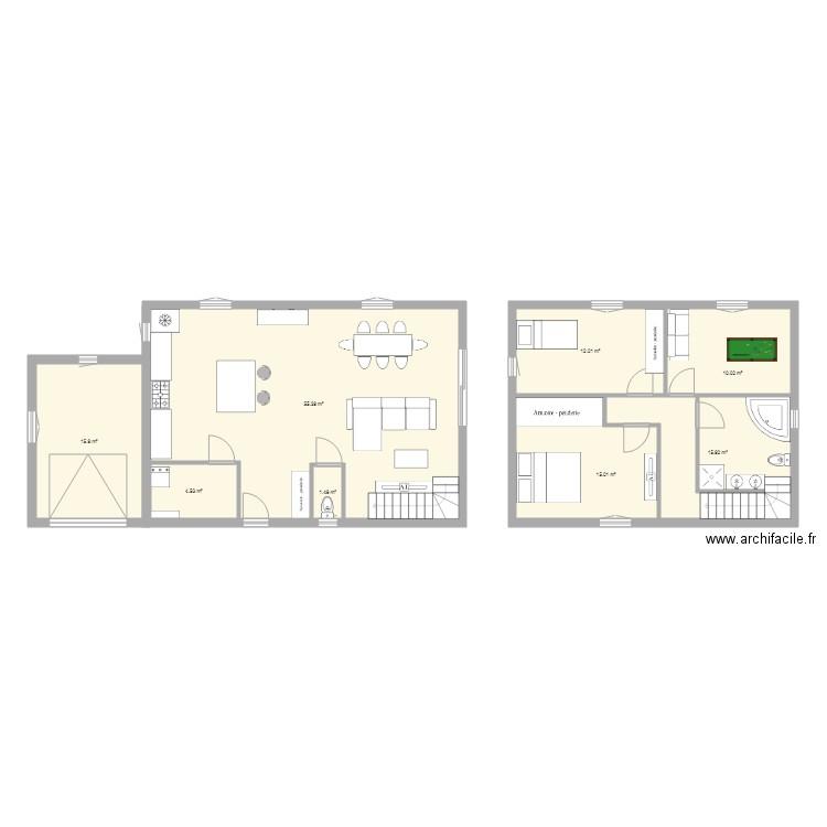 Maison Etage Plan 8 Pieces 130 M2 Dessine Par Vinsab