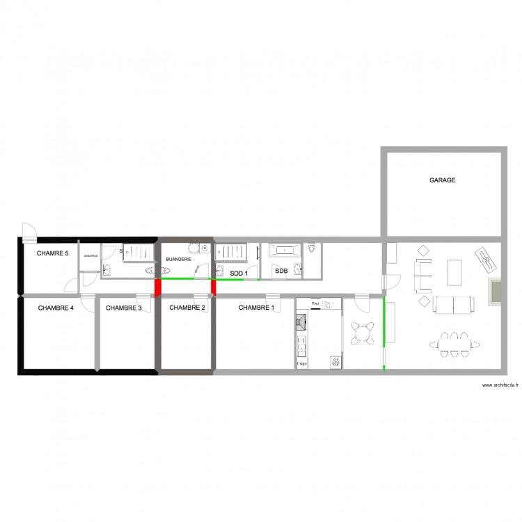 Mercredi 332 plan 10 pi ces 120 m2 dessin par pascal et mathias - Plan appartement 120 m2 ...