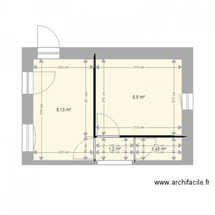 Salle de bain 4 plan 4 pi ces 20 m2 dessin par simon76540 for Salle de bain 4 m2