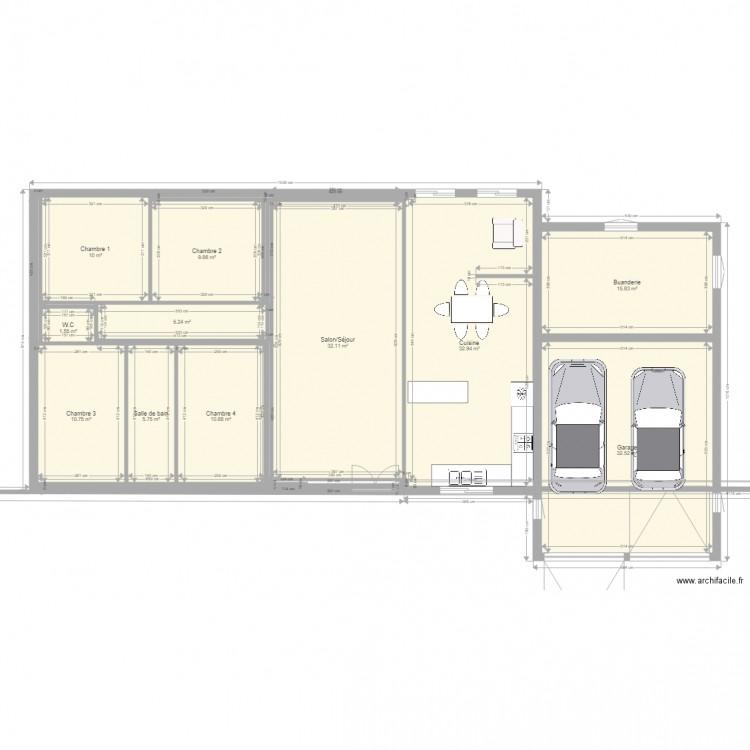 Maison de campagne 2 plan 11 pi ces 167 m2 dessin par for Garage plan de campagne