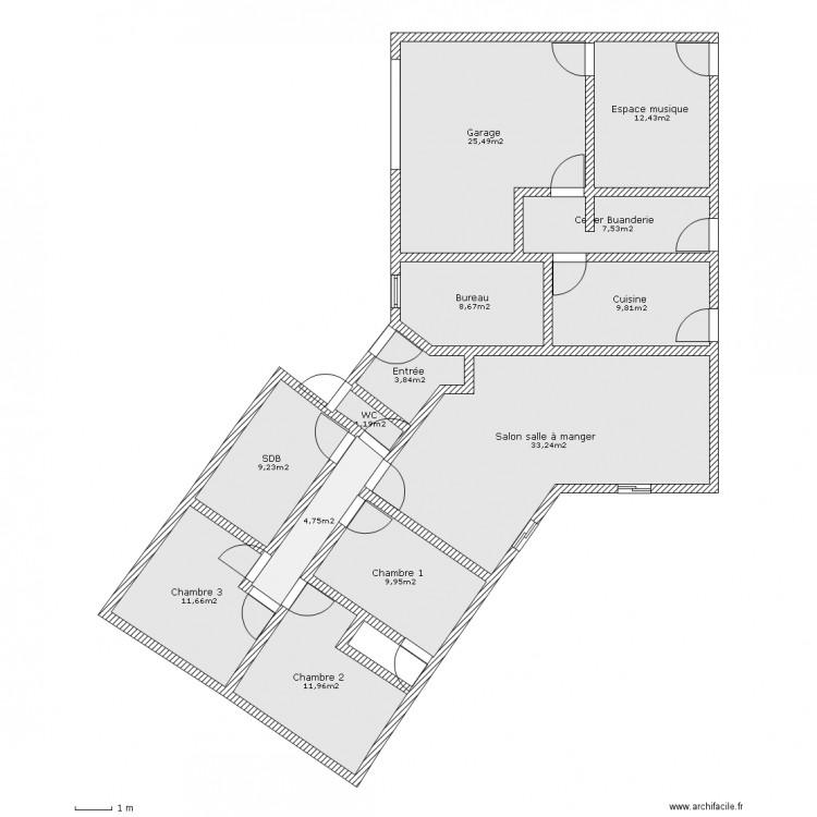 Plan de maison plain pied 150m2 plan de maison plain pied for Plan maison 150m2