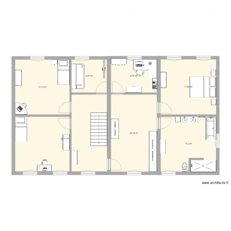 Maison 1er plan 7 pi ces 120 m2 dessin par gaellelouis - Consommation electrique moyenne maison 140 m2 ...