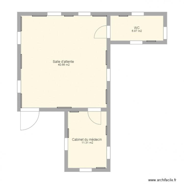 salle d attente plan 3 pi ces 59 m2 dessin par dydy70. Black Bedroom Furniture Sets. Home Design Ideas