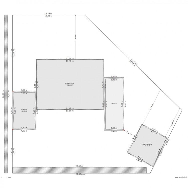 Plan De Masse 3 Plan 4 Pi Ces 170 M2 Dessin Par Kmerlin