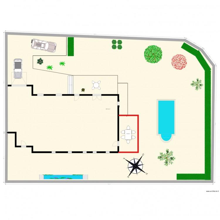 Plan De Masse Dp2 Plan 2 Pieces 714 M2 Dessine Par Alex