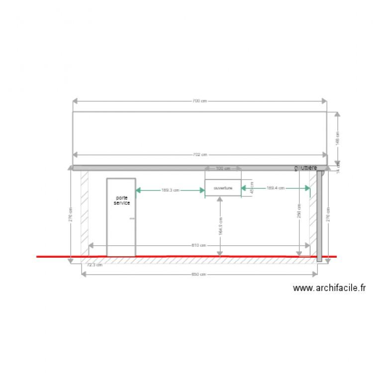 garage facade est plan dessin par phcm. Black Bedroom Furniture Sets. Home Design Ideas