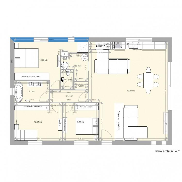 maison bon plan 10 pi ces 101 m2 dessin par angelamg31. Black Bedroom Furniture Sets. Home Design Ideas