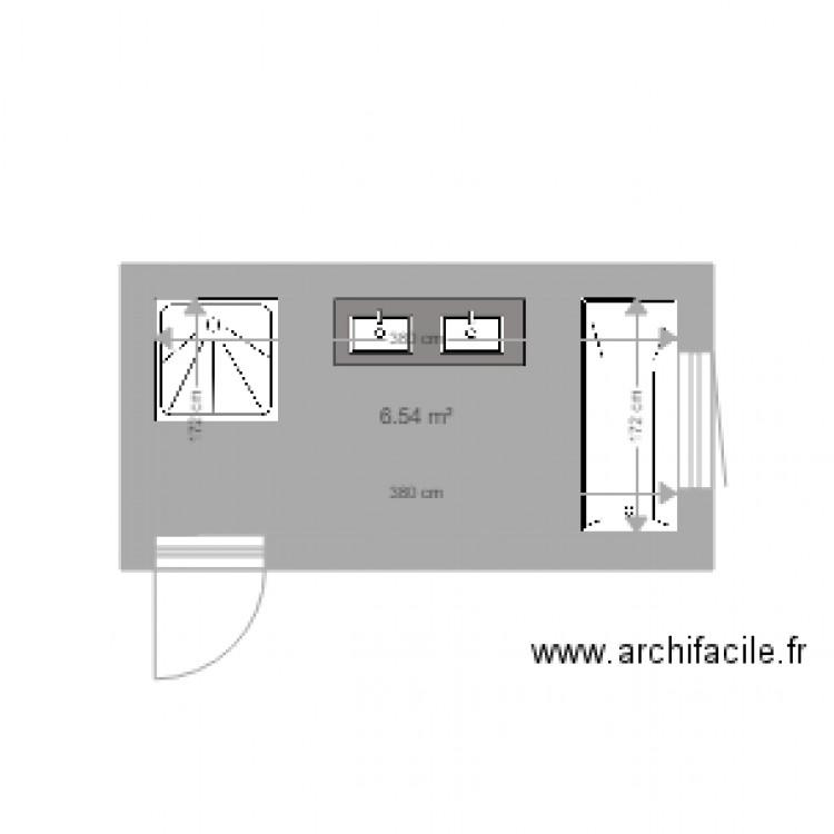 Cholet salle de bain plan 1 pi ce 7 m2 dessin par ghibli11 - Salle de bain 7 m2 ...