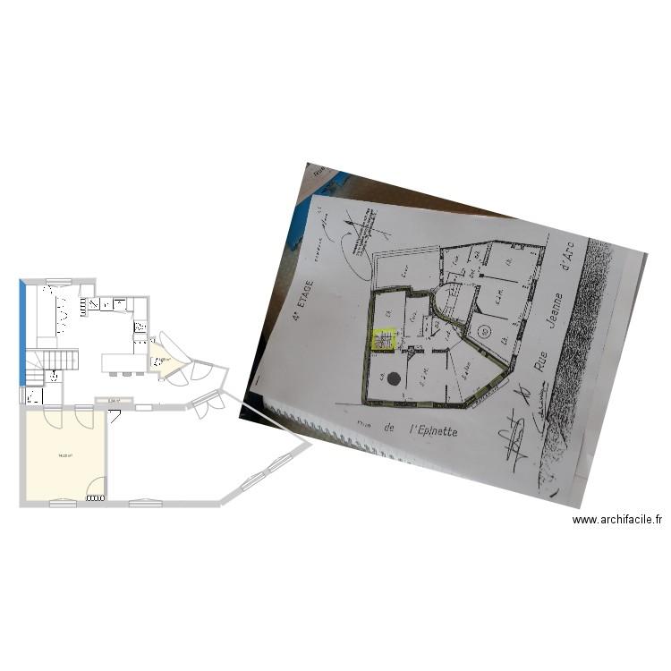 appart 4 cdl plan 3 pi ces 16 m2 dessin par millka. Black Bedroom Furniture Sets. Home Design Ideas