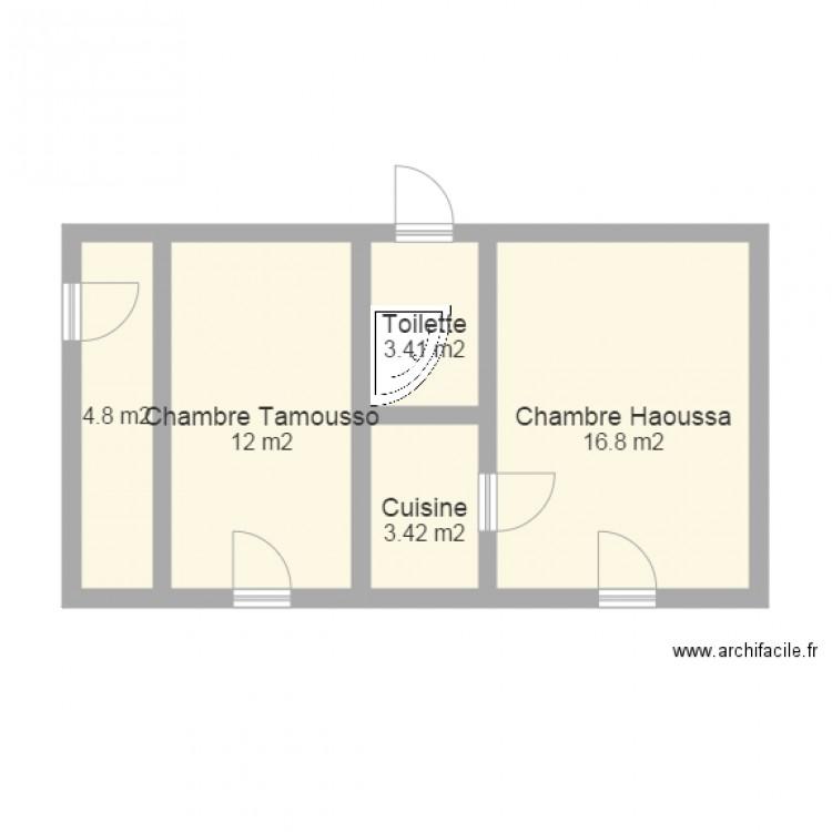 studio4 plan 5 pi ces 40 m2 dessin par mkamtano. Black Bedroom Furniture Sets. Home Design Ideas