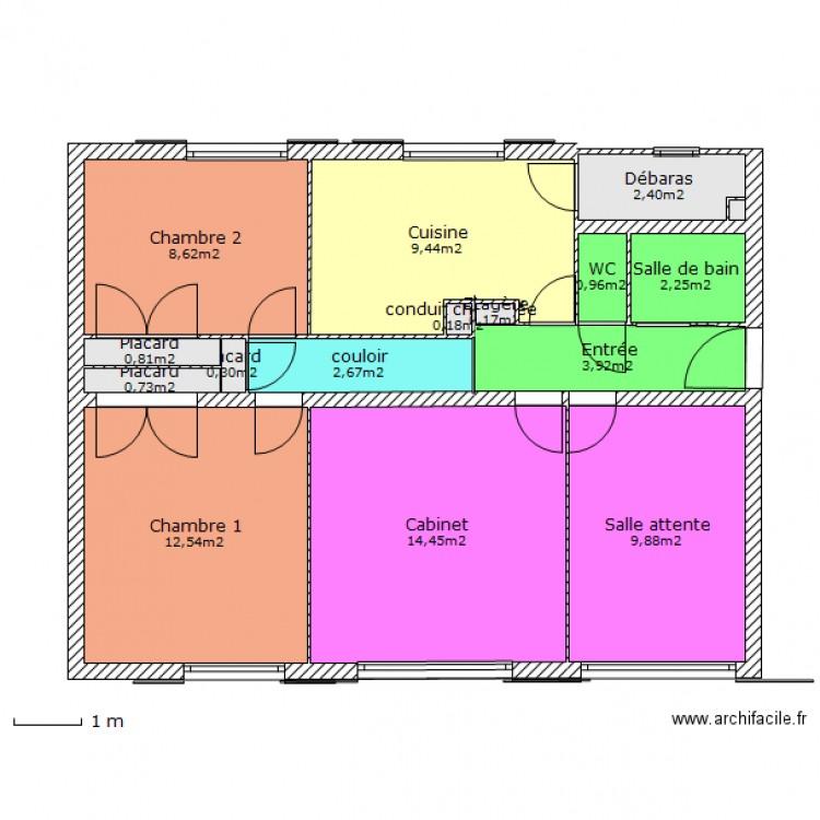 Superbe Appartement Nom Des Pièces Et Superficie. Plan De 15 Pièces Et 69 M2