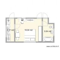 Plan maison et appartement de 24 28 m2 for Plan extension maison 40m2